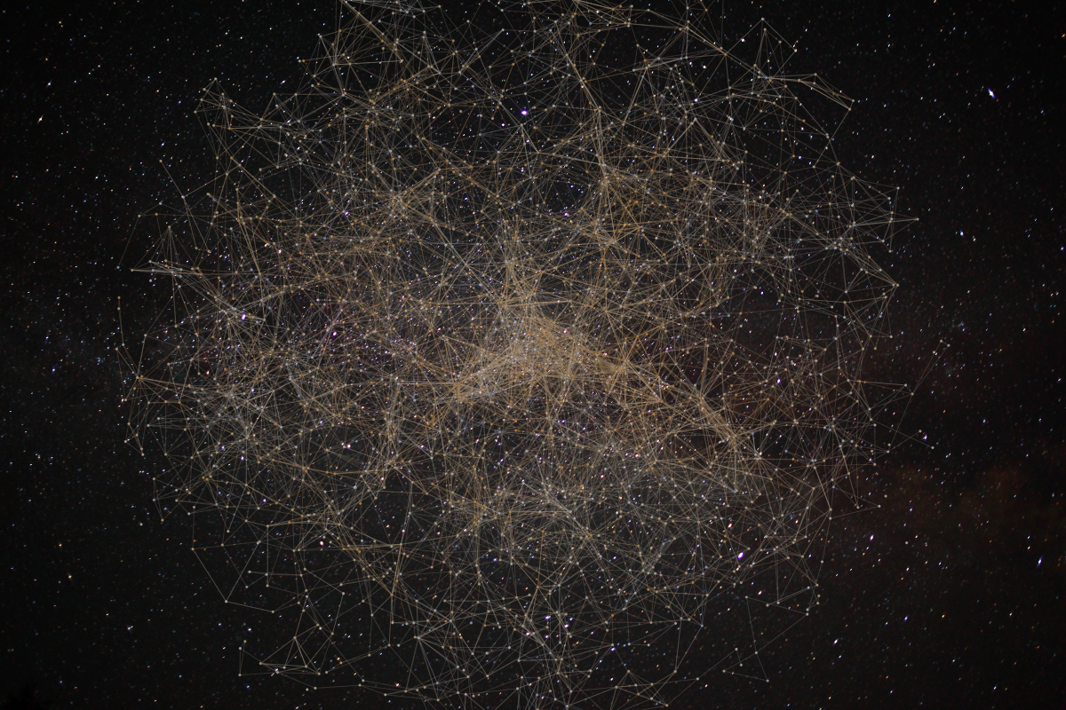 night sky stellar network